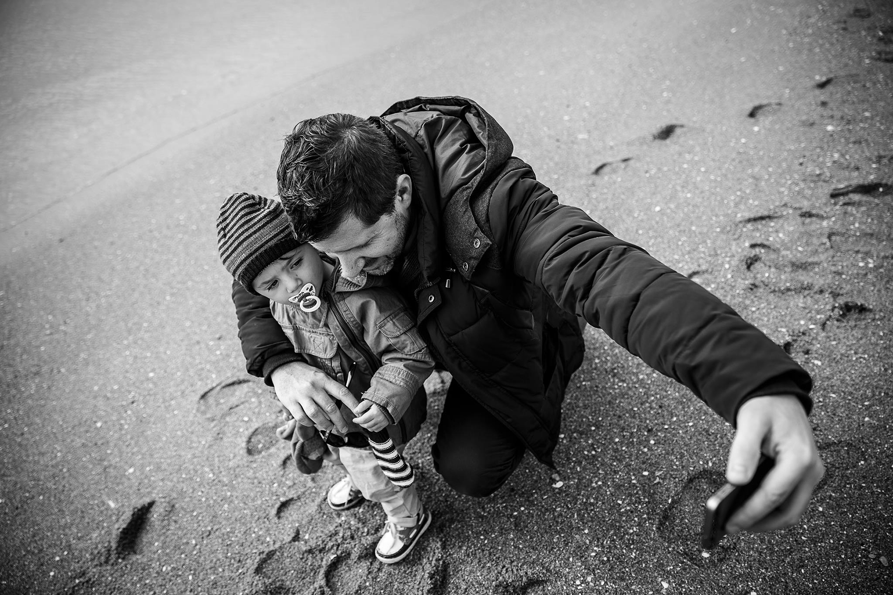 Accueil di site de David Pommier avec son fils