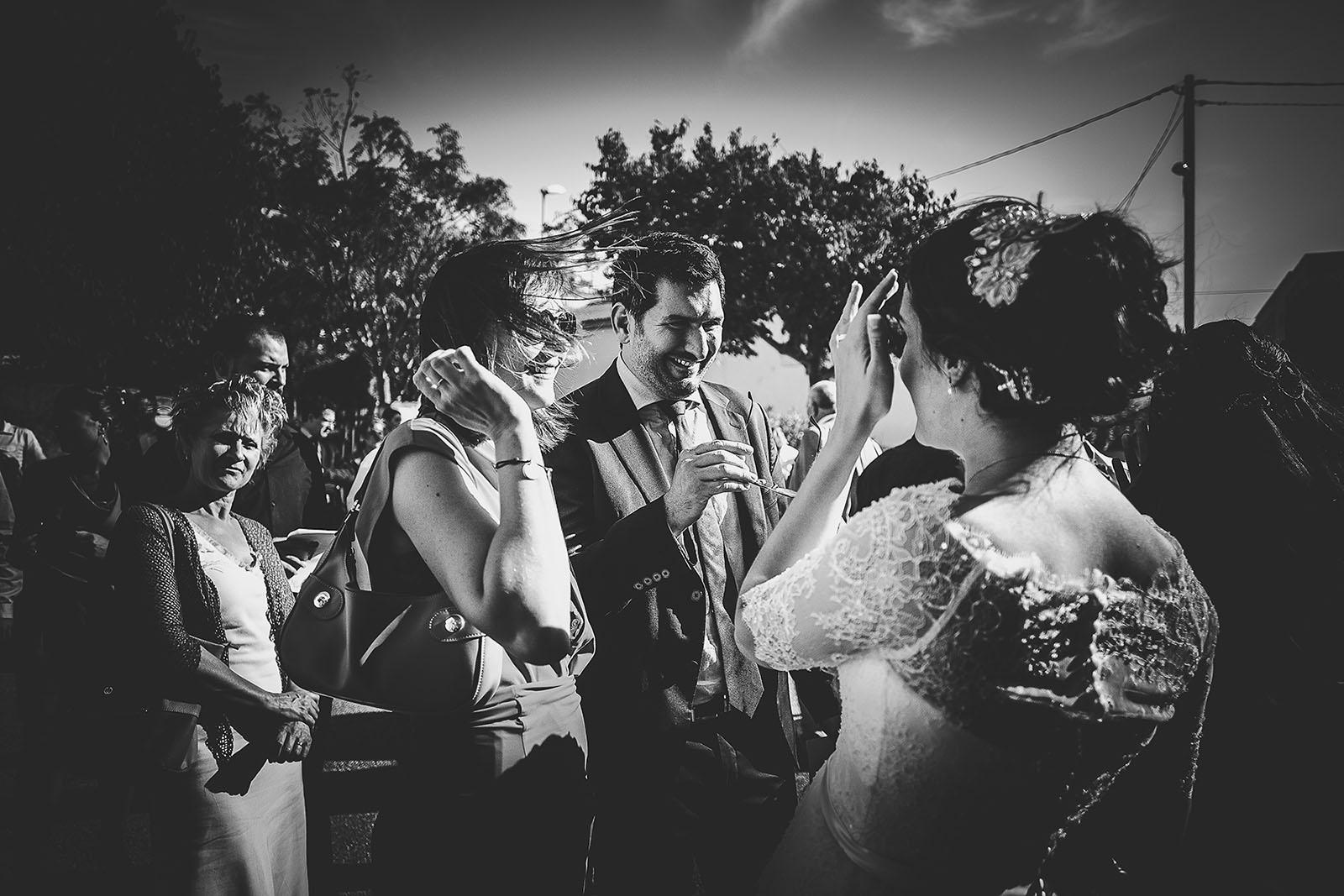 Mariage Villa Quélude David Pommier photographe de mariage. Félicitation des mariés