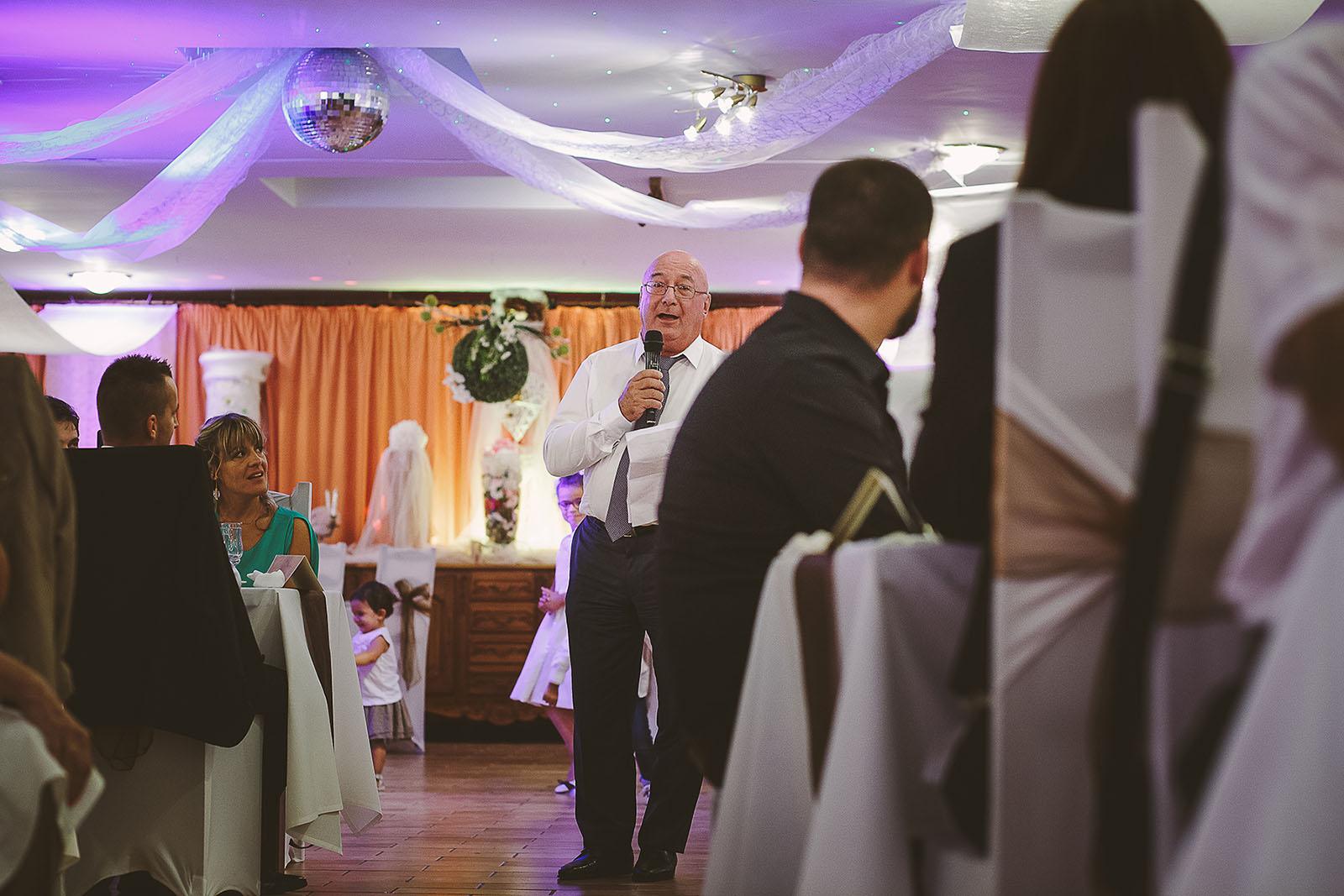 Mariage Villa Quélude David Pommier photographe de mariage. Le discours du papa