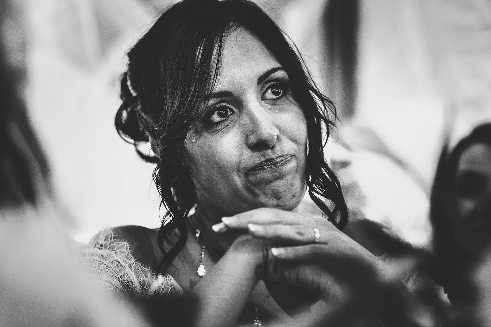 Mariage Villa Quélude David Pommier photographe de mariage. L'émotion et les larmes de la mariée