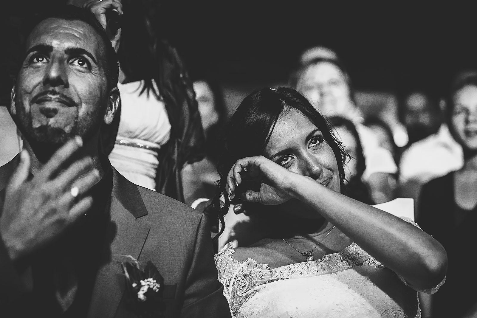 Mariage Villa Quélude David Pommier photographe de mariage. Emotion des mariés