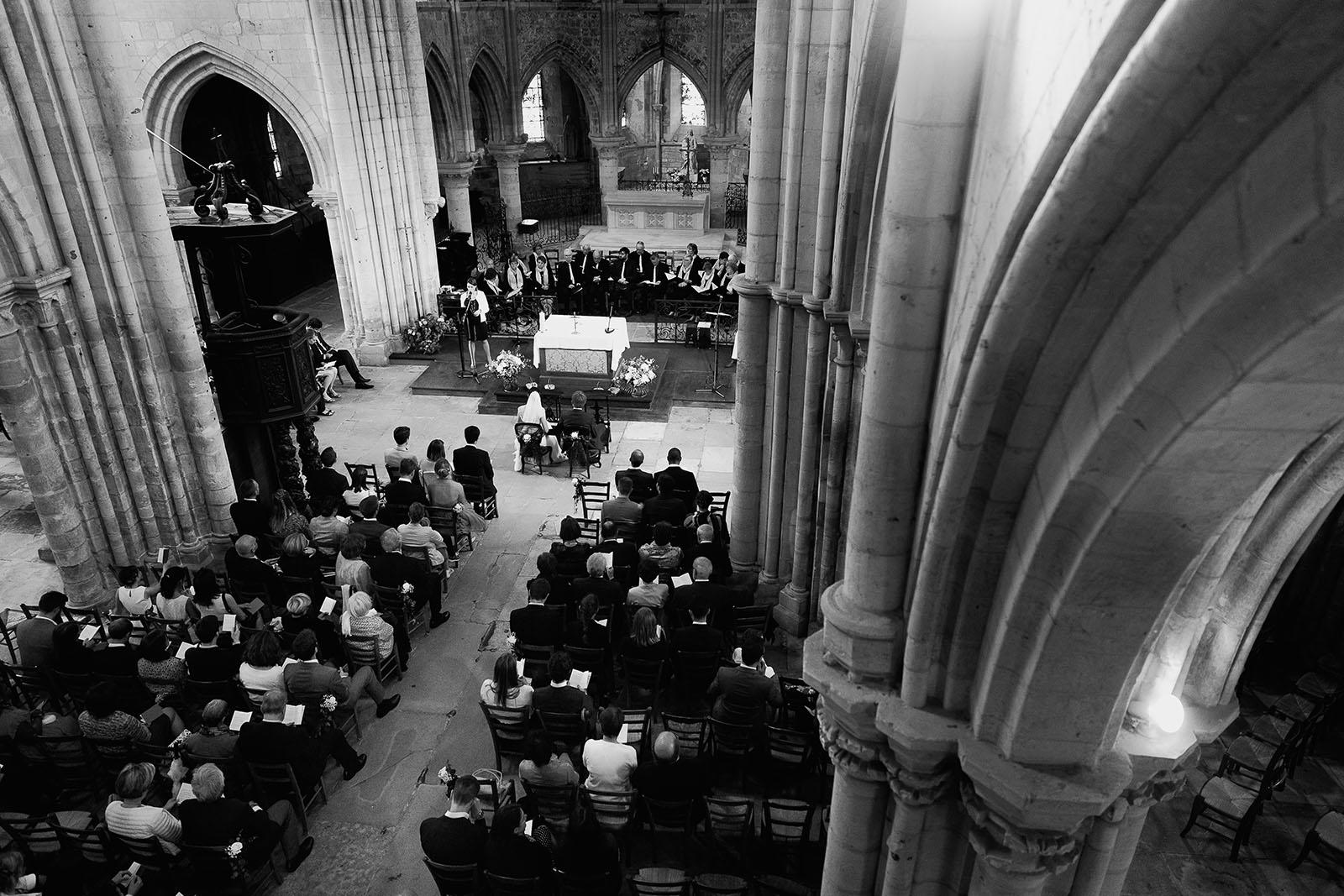 Mariage au Manoir de Corny en Normandie. Eglise et cérémonie vu d'en haut