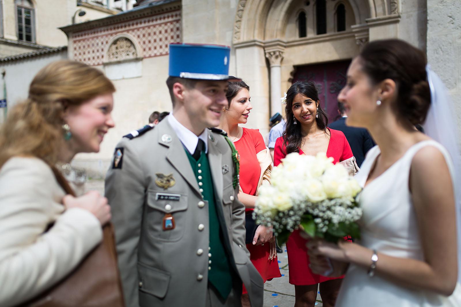 Photographe de mariage à Lyon. Mariage militaire
