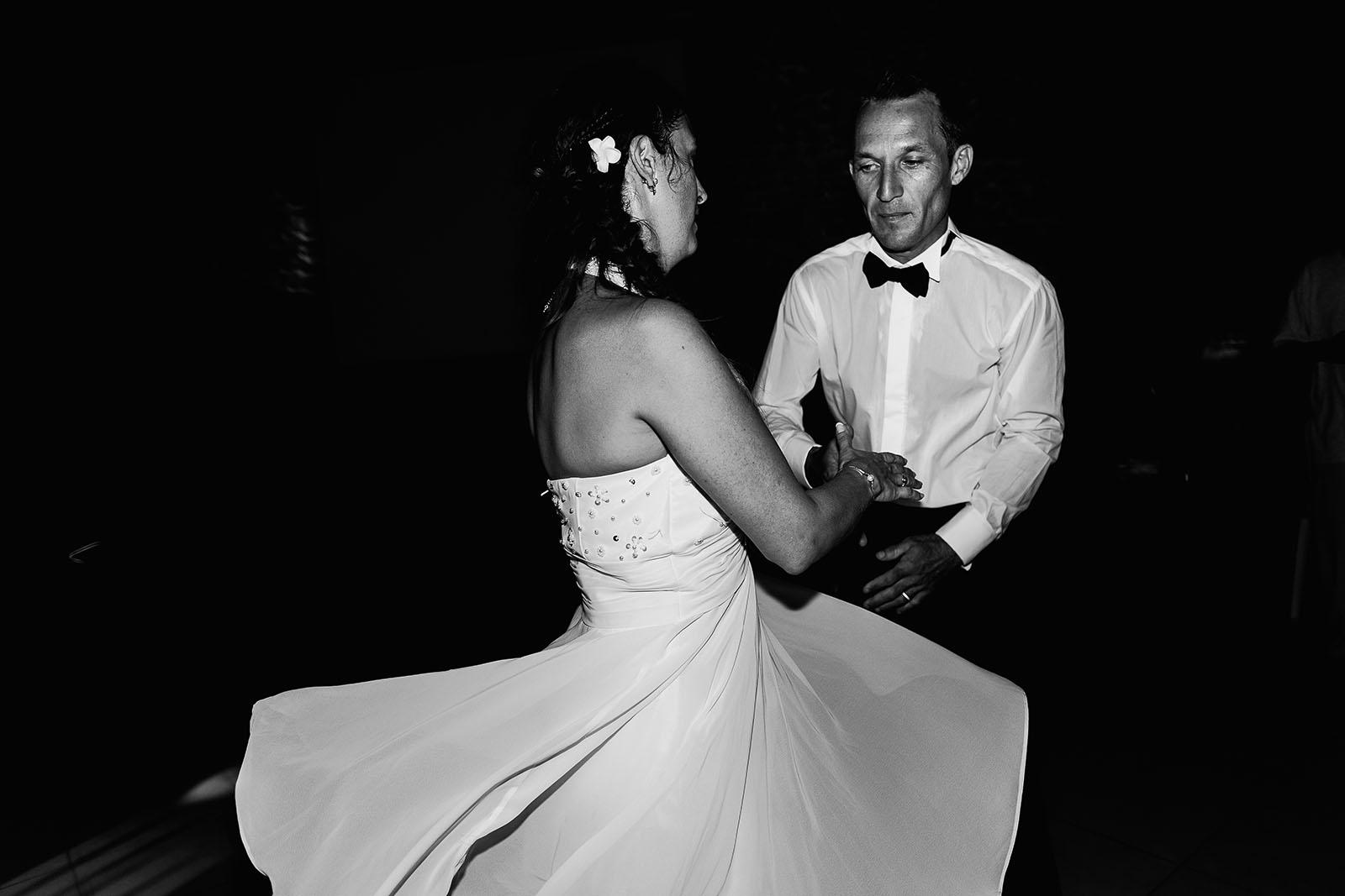 Mariage au château de Bisseret depuis saint Barthélémy soirée dansante