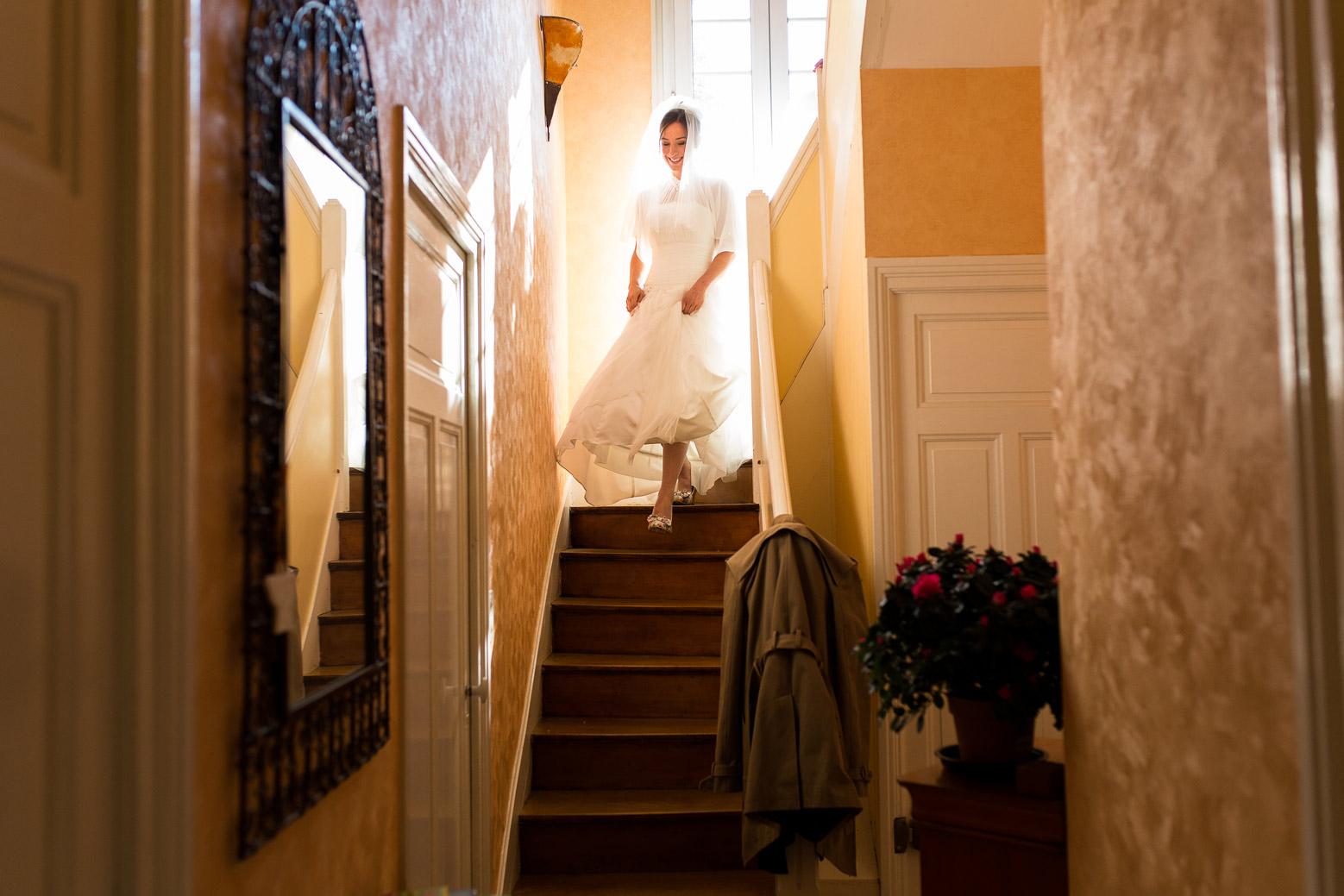 Hotel Royal Saint Mart Royat Clermont Ferrand Descente d'escalier de la mariée