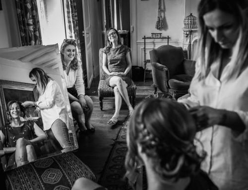 Préparatifs de la mariée au Manoir de Prévanches
