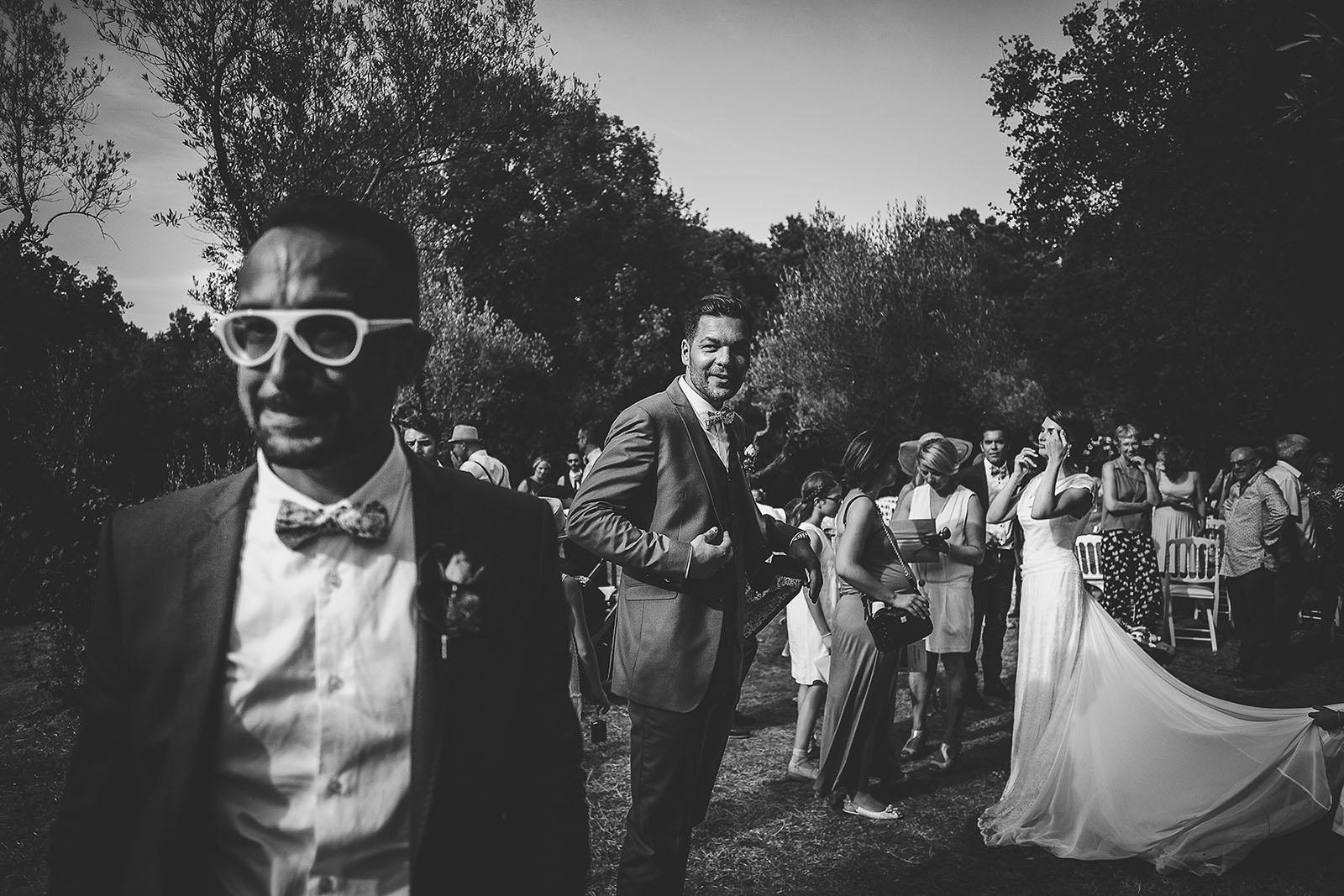 Mariage au Comptoir Saint Hilaire. Beaucoup d'émotion du témoin du marié