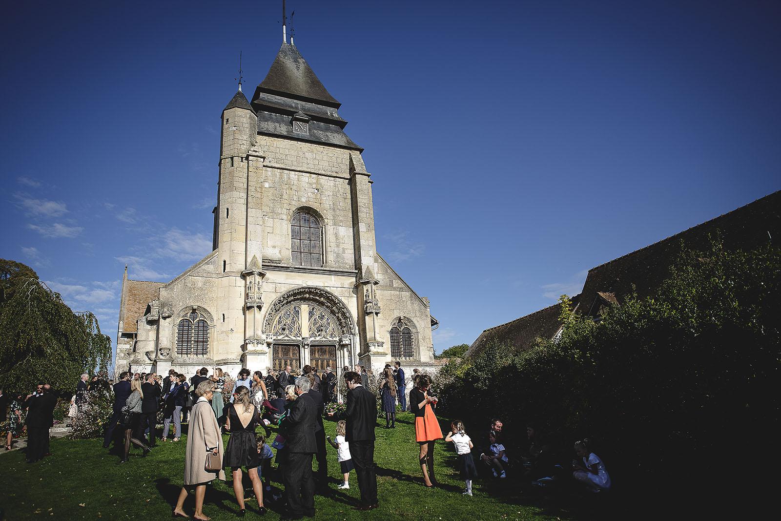 Mariage Manoir des Prévanches. David Pommier photographe de mariage. Eglise