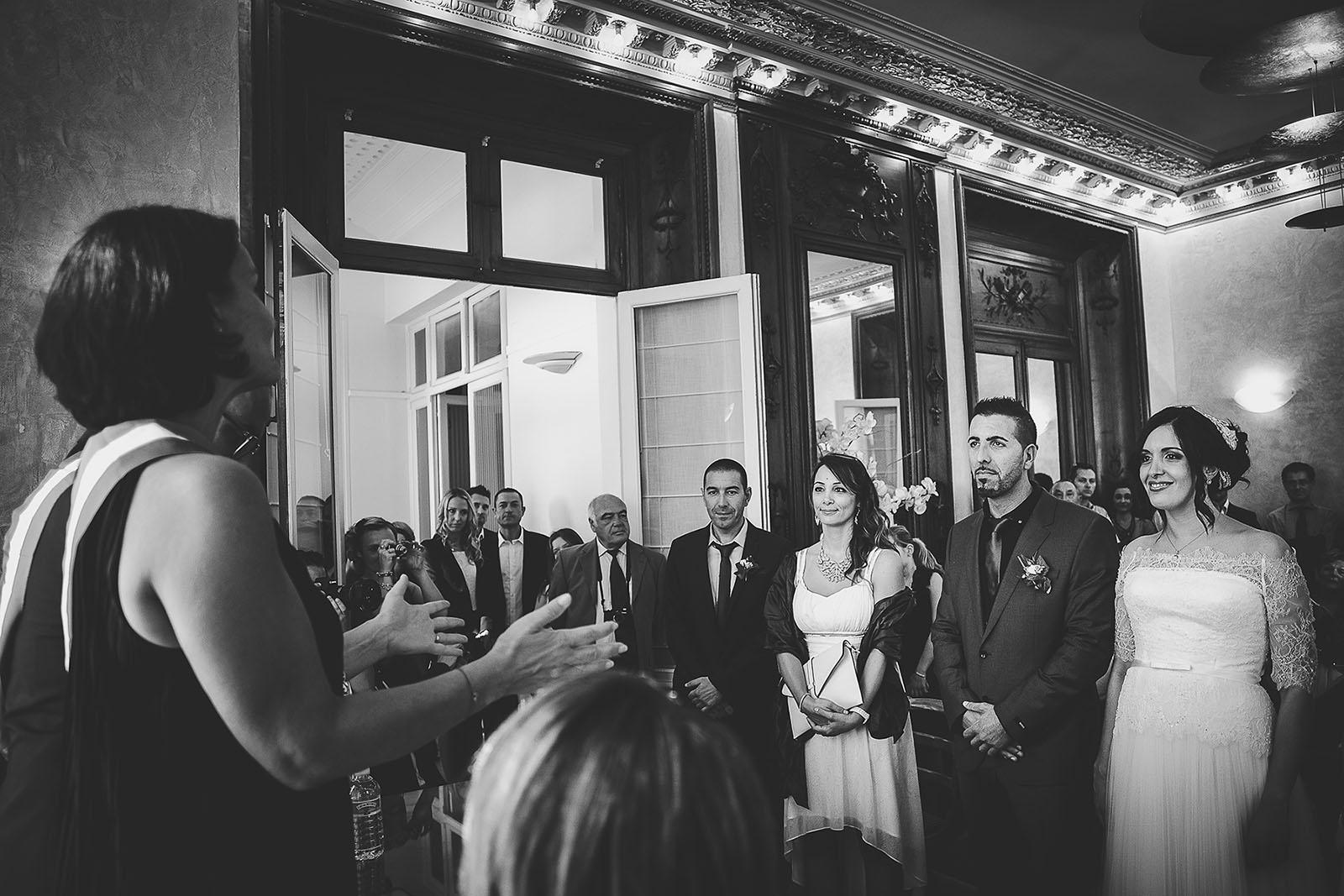 Mariage Villa Quélude David Pommier photographe de mariage. Cérémonie à la mairie de Marseille