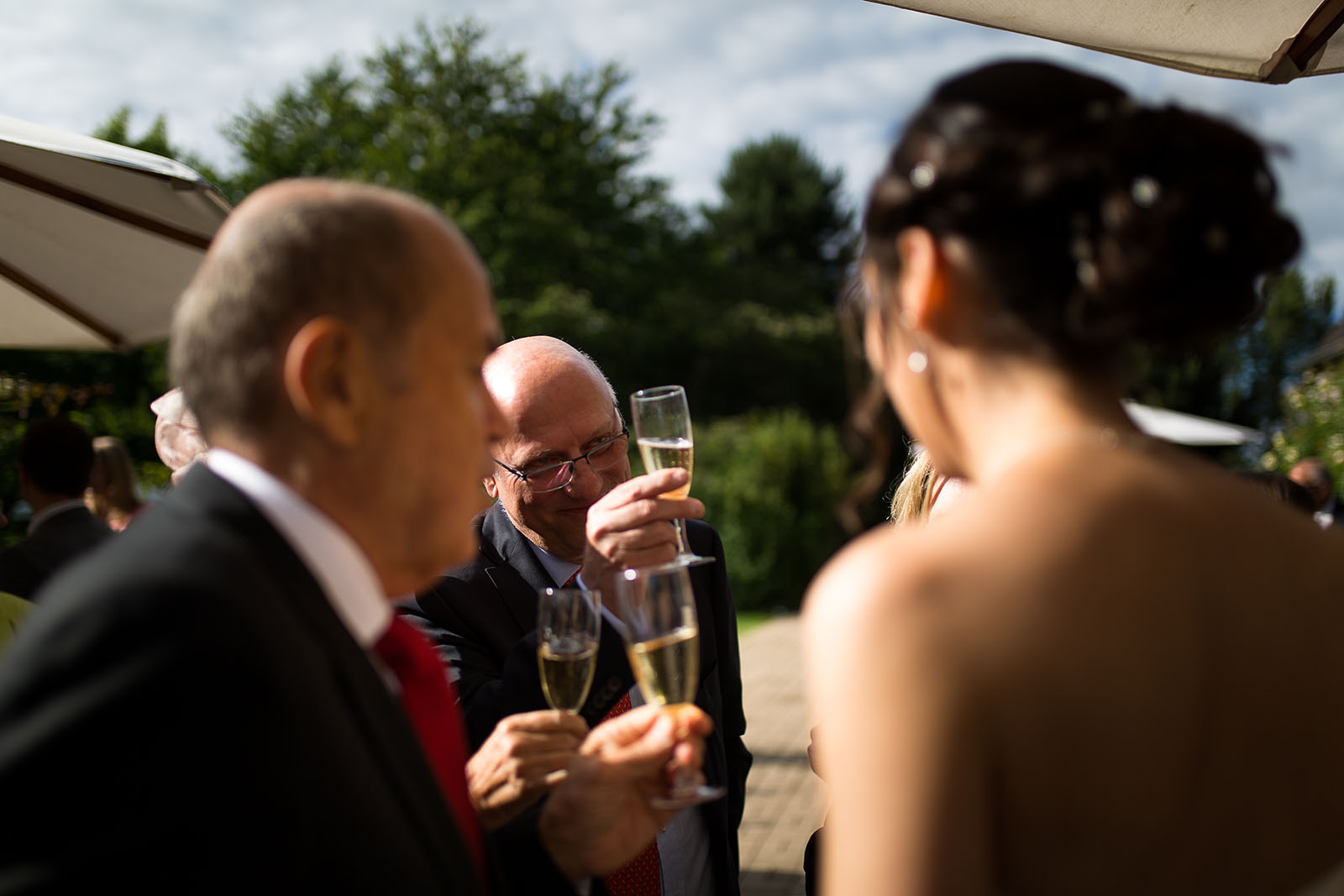 Mariage au Manoir de Corny en Normandie. Le vin d'honneur