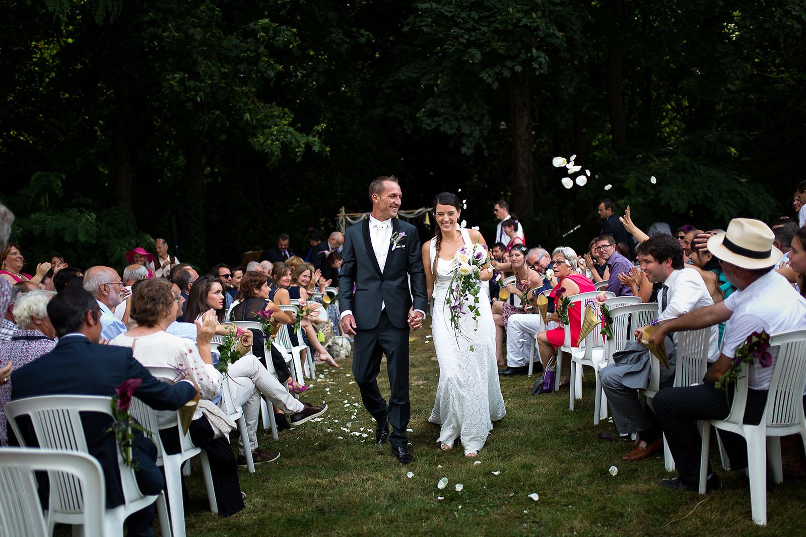 Mariage au château de Bisseret depuis saint Barthélémy fin de cérémonie laique
