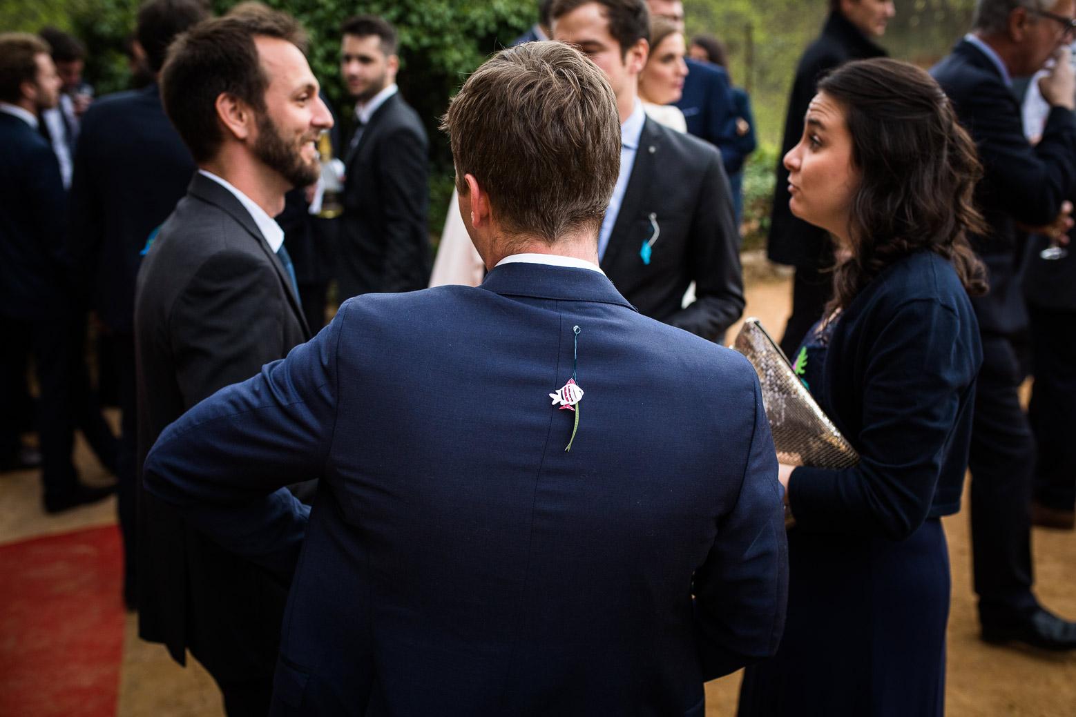 Reportage photo de mariage à Lyon - Manoir de la Garde. Poisson d'avril
