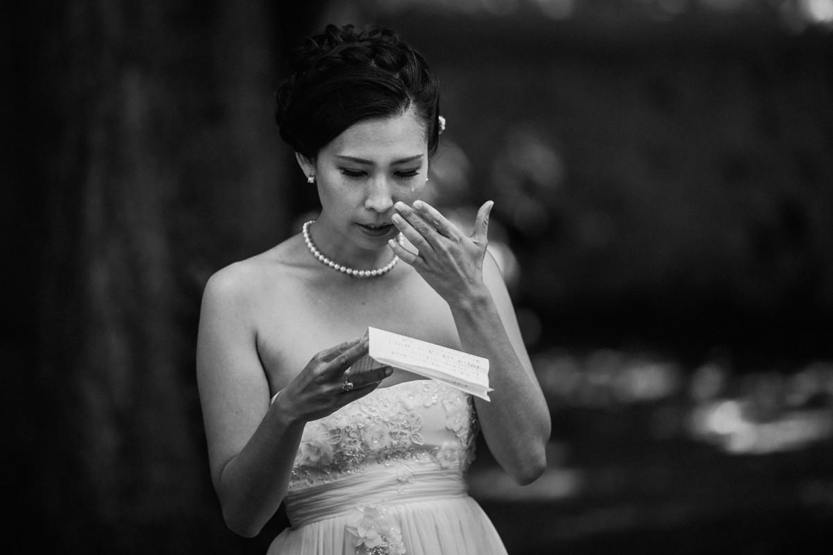 Meilleures photographies de mariage du photographe de mariage David Pommier. Mariage en Asie, wedding destination. Galerie de photo de mariage David Pommier. Mariage asiatique. Mariée qui pleure