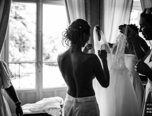 Photographie de mariage récompensée, les préparatifs de la mariée