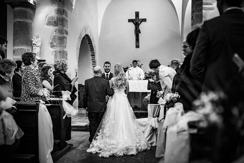Reportage de mariage sous la neige, près de Lyon