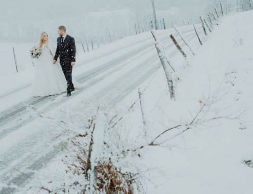 Un mariage en hiver et sous la neige