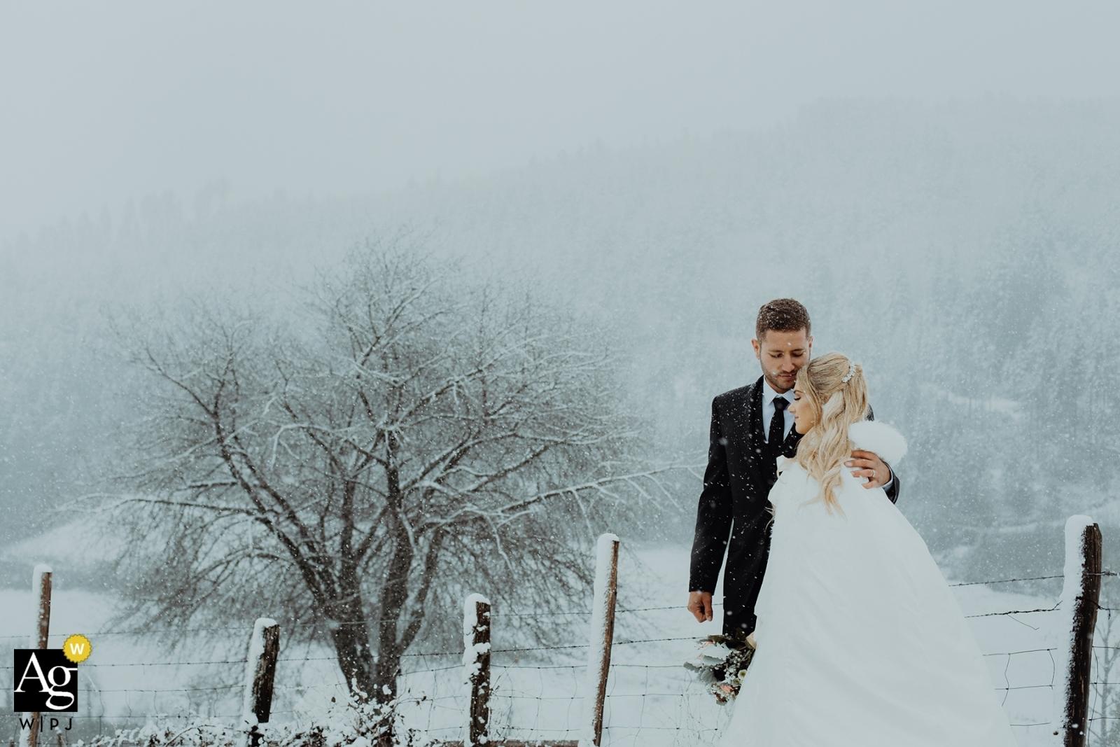 Photographe de mariage à Lyon récompensé. Les mariages d'automne et d'hiver