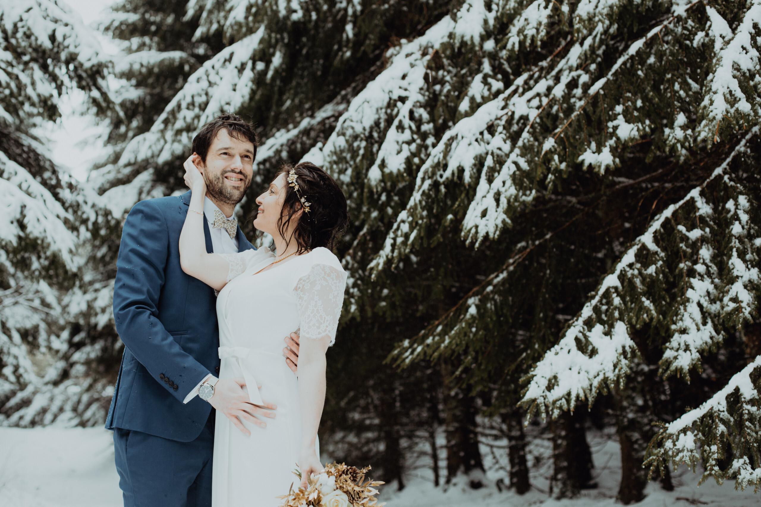 Mariage à la neige
